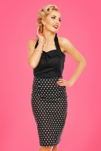Dolly and Dotty Black Polkadot Pencil Skirt 120 14 26290 20180605 004