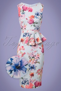 Vintage Chic Floral Blue Pencil Dress 100 39 25970 20180605 0001wv