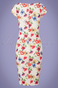 Vintage Chic Floral White Pencil Dress 100 59 26080 20180605 0006w