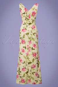 Vintage Chic Floral Yellow Maxi Dress 108 89 25689 20180621 0009W