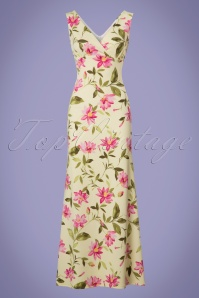 Vintage Chic Floral Yellow Maxi Dress 108 89 25689 20180621 0003w