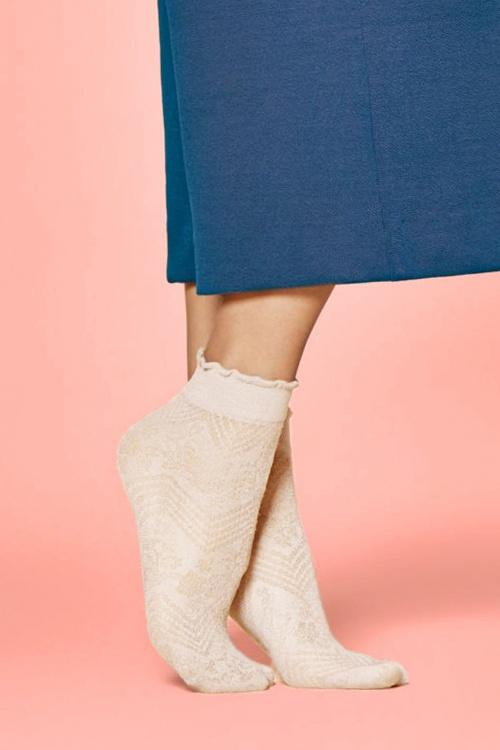 Fiorella Flowerbed socks Ecru 179 52 26114