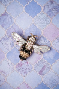 20s The Buzzy Bee Hair Clip Brooch in Gold