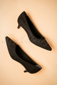 Tamaris Black Suedine Pumps 400 10 25779 06272018 014W