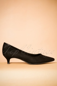 Tamaris Black Suedine Pumps 400 10 25779 06272018 004W