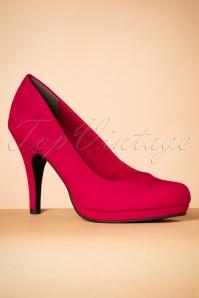 Tamaris 50s Classy Lipstick Red Pumps 400 20 25774 06272018 006W