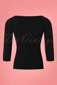 Vintage Chic Scuba Crepe Black Long Sleeve Shirt 113 20 26356 20180702 0004W