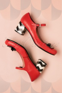Nemonic Red Mary Jane Shoes 402 27 26019 07022018 013W