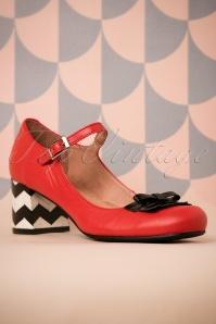Nemonic Red Mary Jane Shoes 402 27 26019 07022018 004W