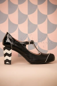Nemonic Black T strap Pumps 401 10 26018 07022018 011W
