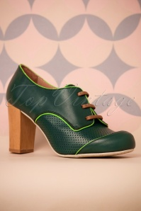 60s Madera Bosque Booties in Green