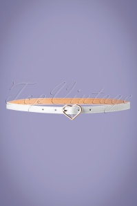 50s My Heart Belt in White