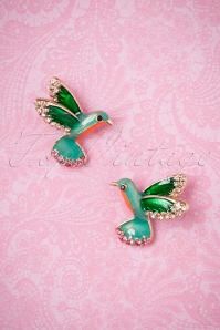 50s Kiki Hummingbird Earstuds in Gold