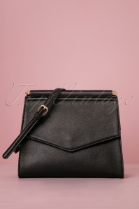 Thea Double Side Crossbody Bag Années 50 en Noir
