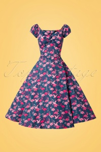 Collectif Clothing Dolores Flamingo Flock Doll Dress 102 39 26572 20180706 0003W