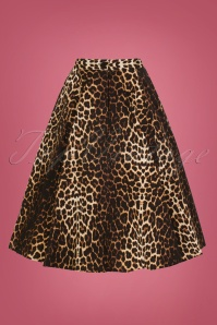 Bunny 50s Leopard Panthera Swing Skirt 25866 2W