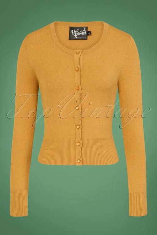 Bunny Paloma Cardigan in Mustard 140 80 25870 07062018 01W