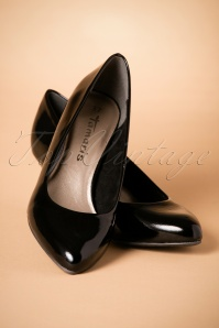 Tamaris Black Patent Pumps 400 10 25780 07092018 010W