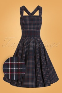 Bunny Peebles Pinafore Navy Dress 25822 01W1