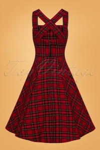 Bunny Irvine Pinafore Dress in Red 25826 02W