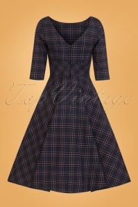 Bunny Peebles 50s Dress in Navy 25820 02W