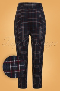 Bunny Peebles Cigarette Trousers Navy 131 39 25858 01W1