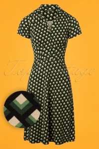 60s Oddity Diner Dress in Avar Green