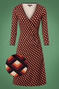 60s Oddity 3/4 Sleeves Cross Dress in True Red