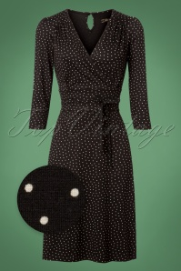 60s Cecil Little Dots Dress in Black