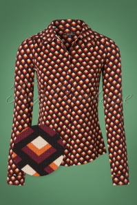 60s Oddity Blouse in True Red