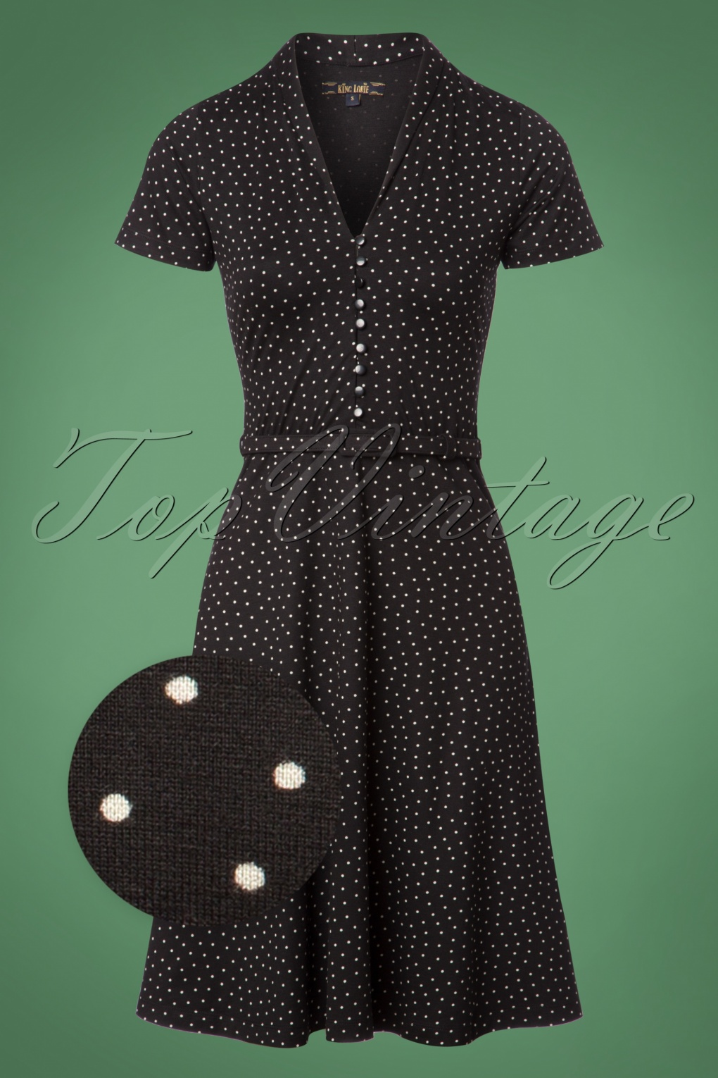 1960s Dresses – A Rainbow of 50 Dresses (Pictures) 60s Emmy Little Dots Dress in Black £88.44 AT vintagedancer.com