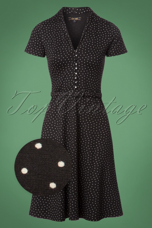 King Louie Emmy Dress Little Dots in Black 25266 20180621 0001wv