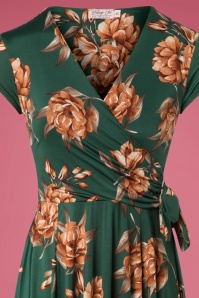 Vintage Chic Emerald Floral Dress 102 49 26456 12072018 01c