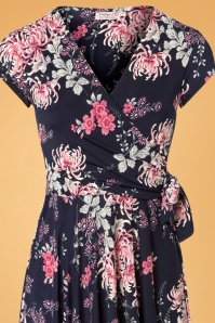 Vintage Chic Navy Pink Floral Dress 102 39 26455 12072018 01c