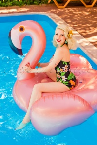 50s Luxe Inflatable Flamingo Float in Rose Gold
