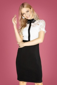 Paperdolls Black and White Lace Dress 100 50 25625 12072018 02