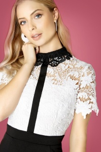 Paperdolls Black and White Lace Dress 100 50 25625 12072018 01