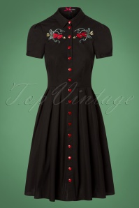 50s Amora Dress in Black