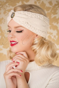 50s Celia Glam Head Band in Cream