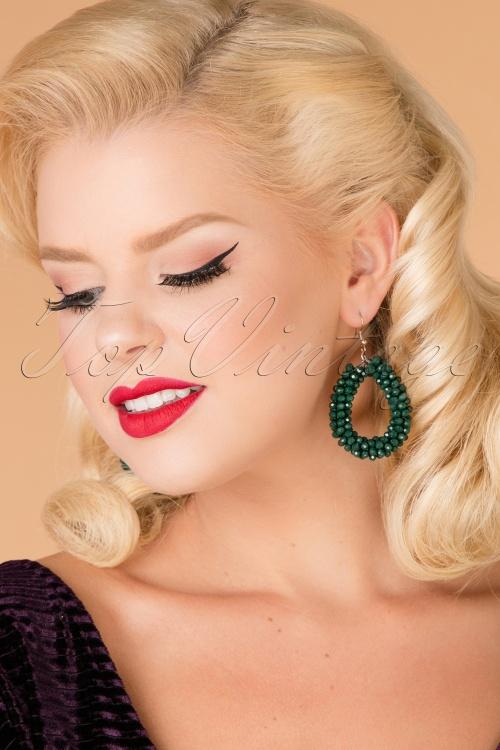 Celestine Green Earrings 333 40 26541 model picture 07122018 006W