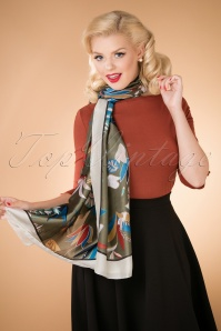 50s Take Me To Monaco Scarf in Green