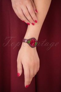 Urban Hippies leather rose bracelet 310 27 26592 07122018 026W