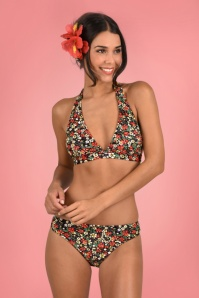 50s Kylie Bikini Top in Hula