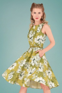 Closet London Green Floral Dress 102 49 26607 20180717 0013