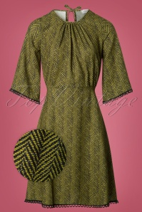 Closet London Green Stripes Dress 106 49 26606 20180717 0002wv