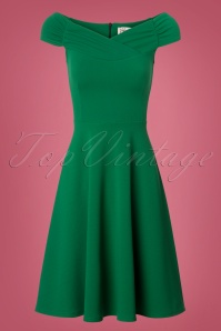 Viintage Chic Off Shoulder Green Dress 102 40 26517 20180717 0001w
