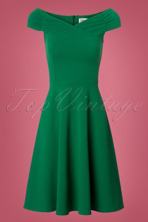 Viintage Chic Off Shoulder Green Dress 102 40 26517 20180717 0001w