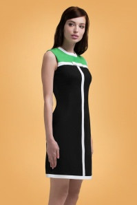 Marmelade Green and Black Dress 106 10 26285 20180717 0006
