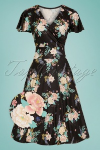 Bunny Black Flora Dress 102 14 25831 19072018 01Wv