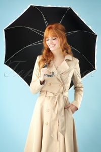 Celestine Black and White Hearts Umbrella 270 10 26568 20180711 0001w